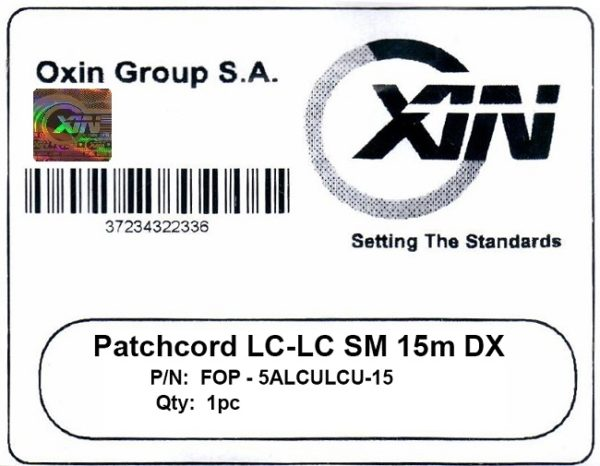پچ کورد فیبر نوری ۱۵ متری LC-LC سینگل مود - اکسین 2