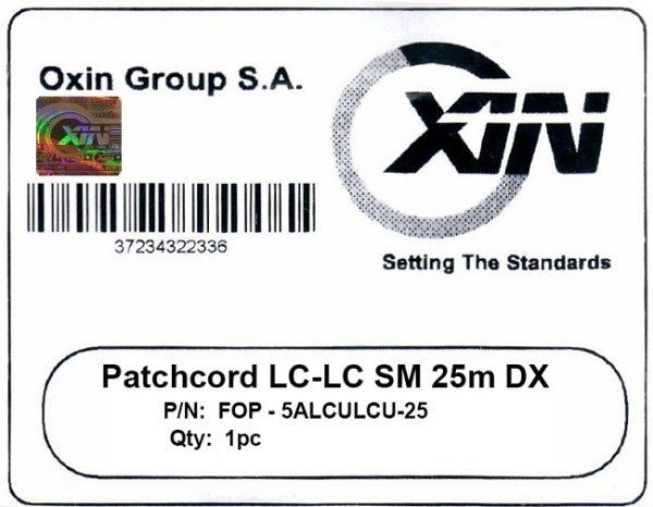 پچ کورد فیبر نوری ۲۵ متری - LC-LC سینگل مود - اکسین 2