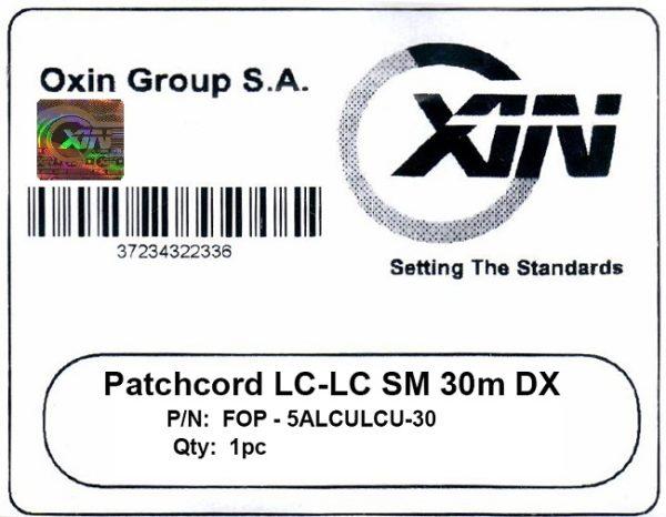 پچ کورد فیبر نوری ۳۰ متری - LC-LC سینگل مود - اکسین 2