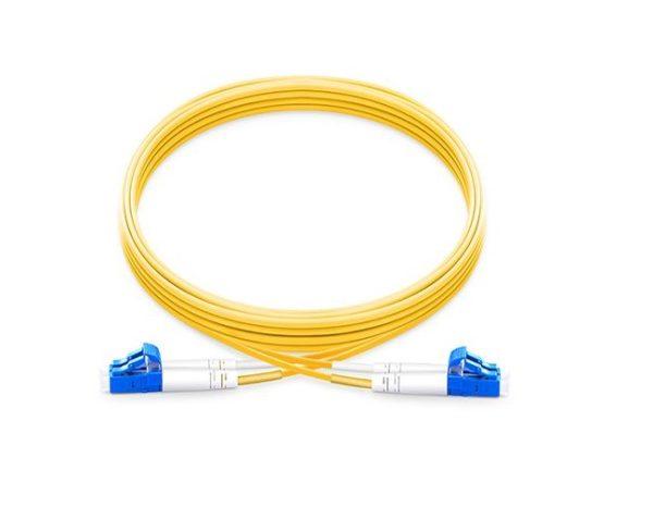 پچ کورد فیبر نوری 25 متری - LC-LC سینگل مود - اکسین