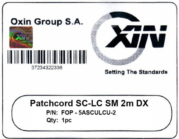 پچ کورد فیبر نوری ۲ متری - SC-LC سینگل مود - اکسین 2
