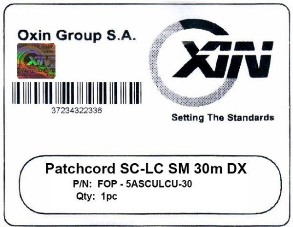 پچ کورد فیبر نوری ۳۰ متری - SC-LC سینگل مود - اکسین 2