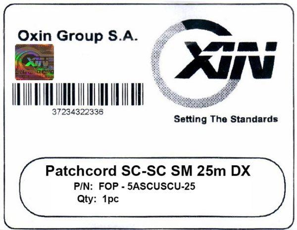 پچ کورد فیبر نوری ۲۵ متری - SC-SC سینگل مود - اکسین 3