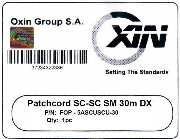 پچ کورد فیبر نوری ۳۰ متری - SC-SC سینگل مود - اکسین 3