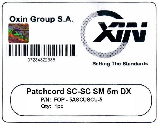 پچ کورد فیبر نوری ۵ متری - SC-SC سینگل مود - اکسین 3