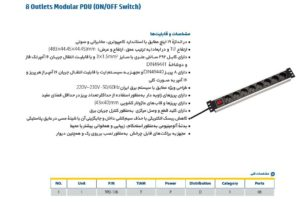 پاور ماژول ۸ پورت تیام - IPOWER TPD-108 1