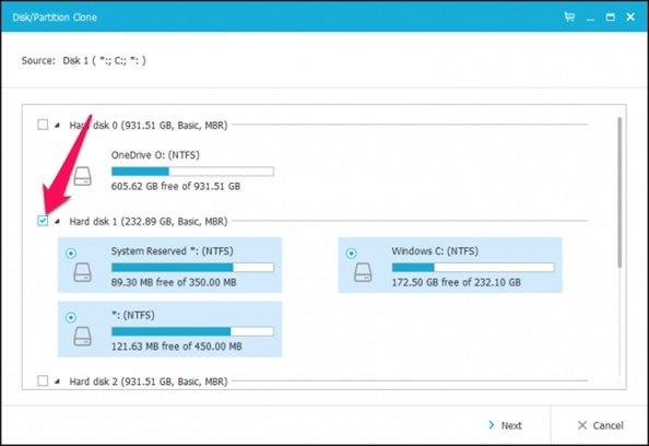آموزش گامبهگام انتقال ویندوز از هارد قدیمی به هارد SSD 4