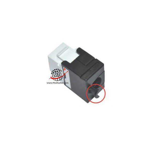 کیستون شبکه CAT6A UTP نت پلاس 180 درجه Free Tool